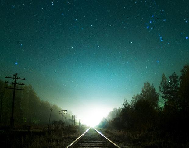 космос и железная дорога