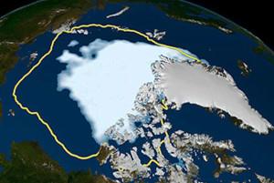 схема таяния ледников