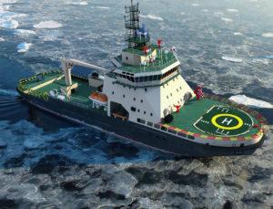 На воду спущен ледокол для ВМФ РФ